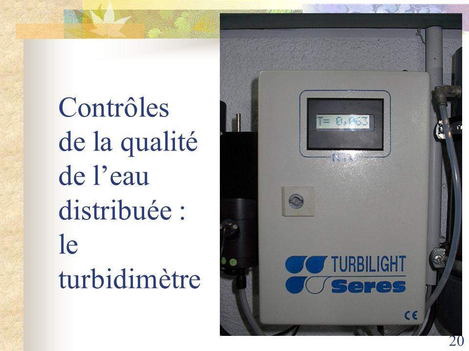 Contrôles de la qualité de l'eau distribuée : le turbidimètre
