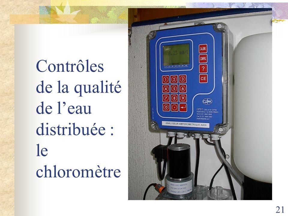 Contrôles de la qualité de l'eau distribuée : le chloromètre