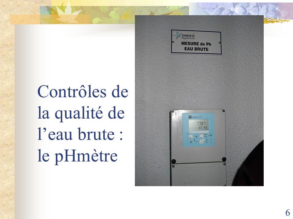Contrôles de la qualité de l'eau brute : le pHmètre