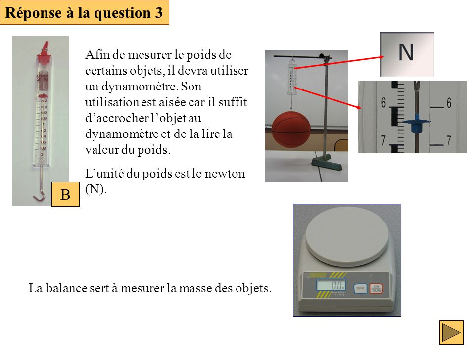 Réponse à la question 3