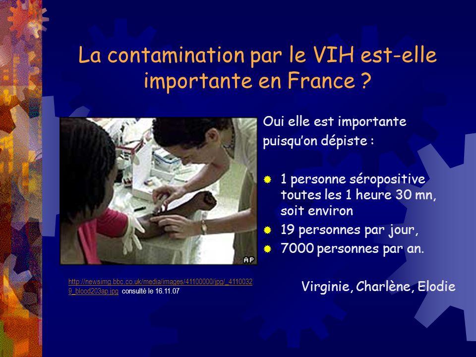 La contamination par le VIH est-elle importante en France