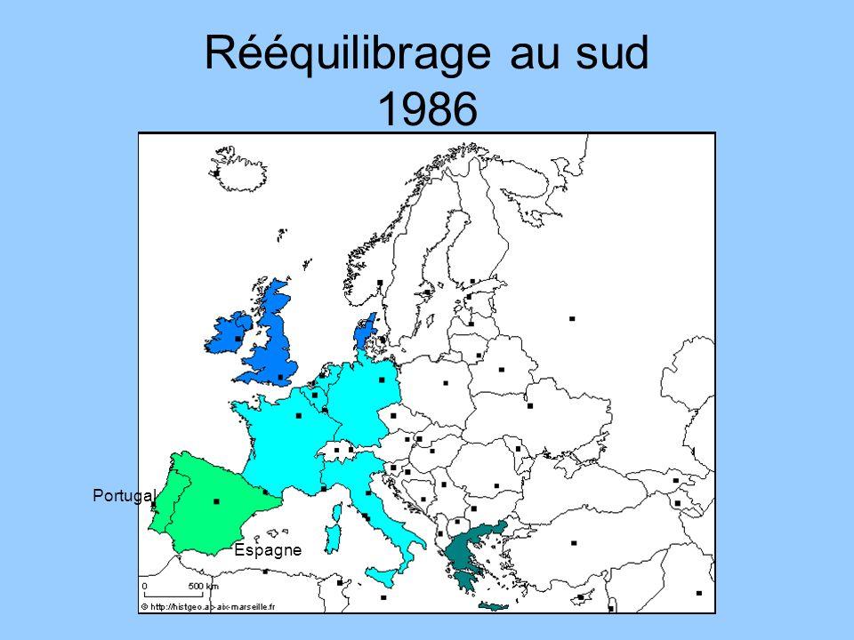 Rééquilibrage au sud 1986 Portugal Espagne