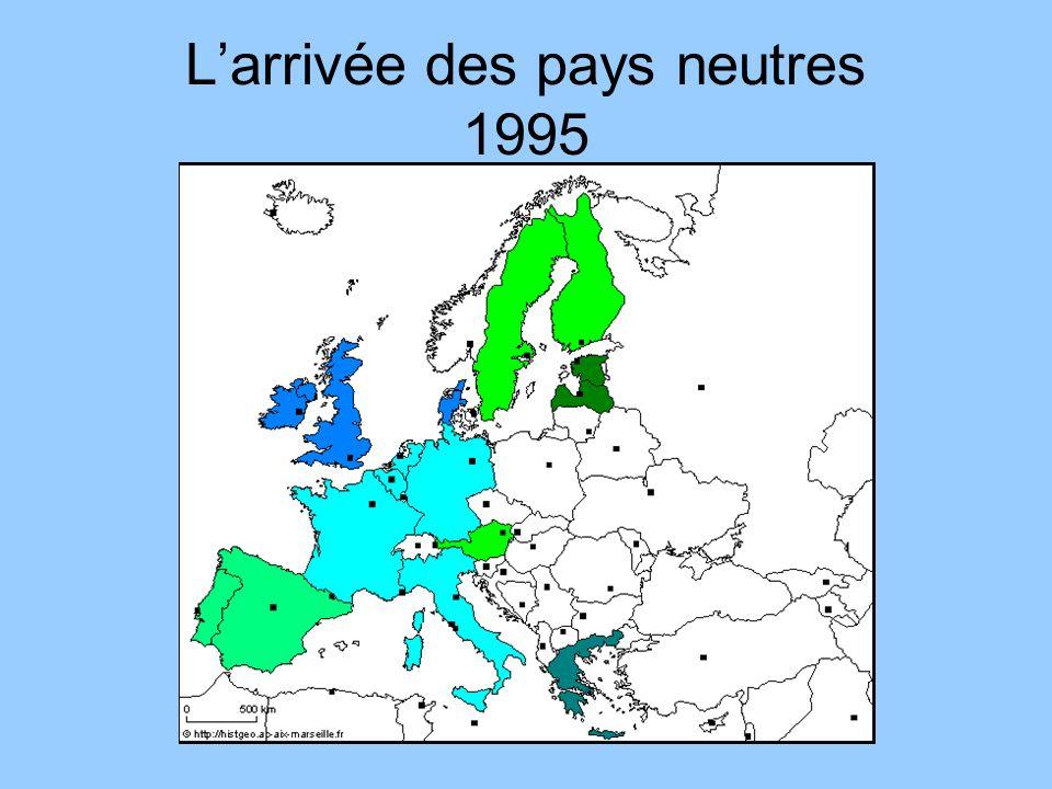 L'arrivée des pays neutres 1995