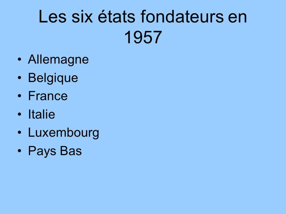Les six états fondateurs en 1957