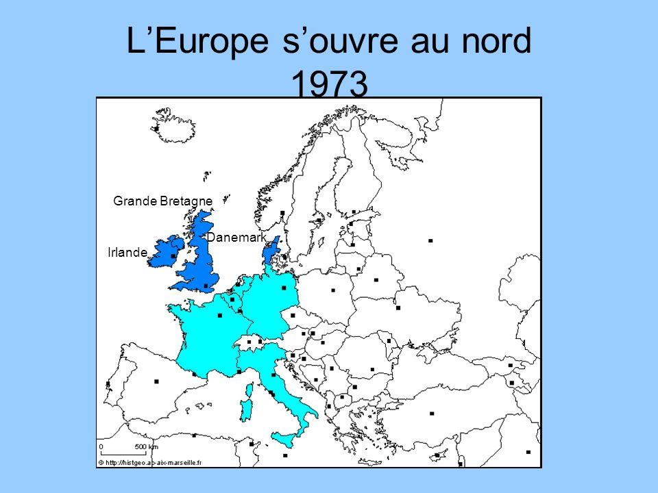 L'Europe s'ouvre au nord 1973