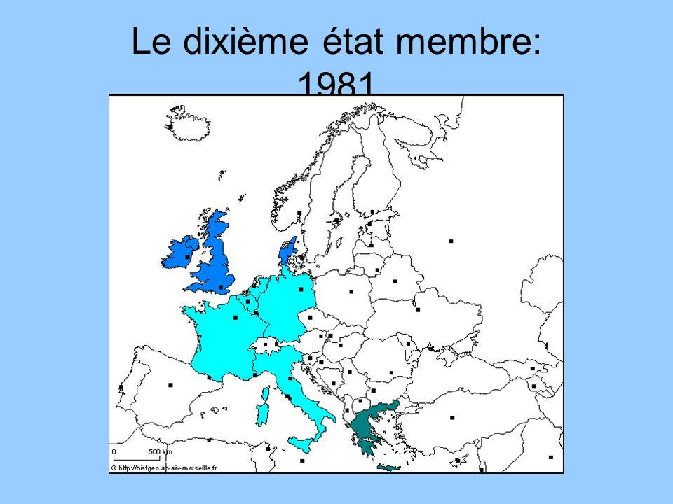 Le dixième état membre: 1981