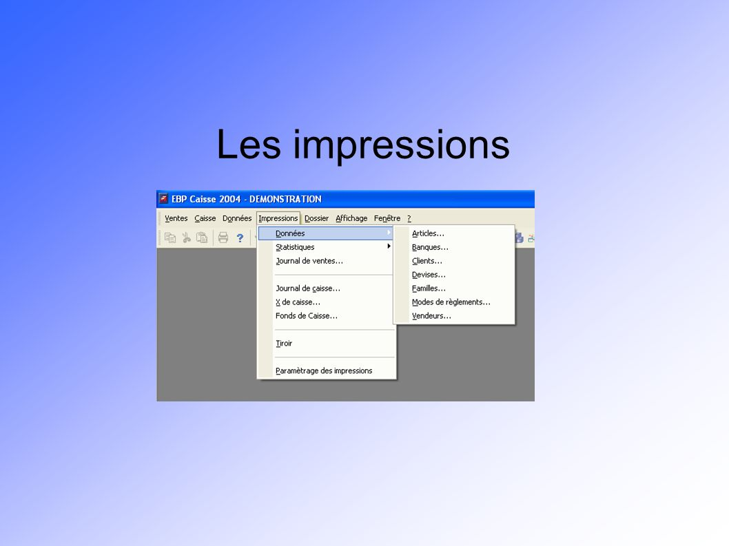 Les impressions