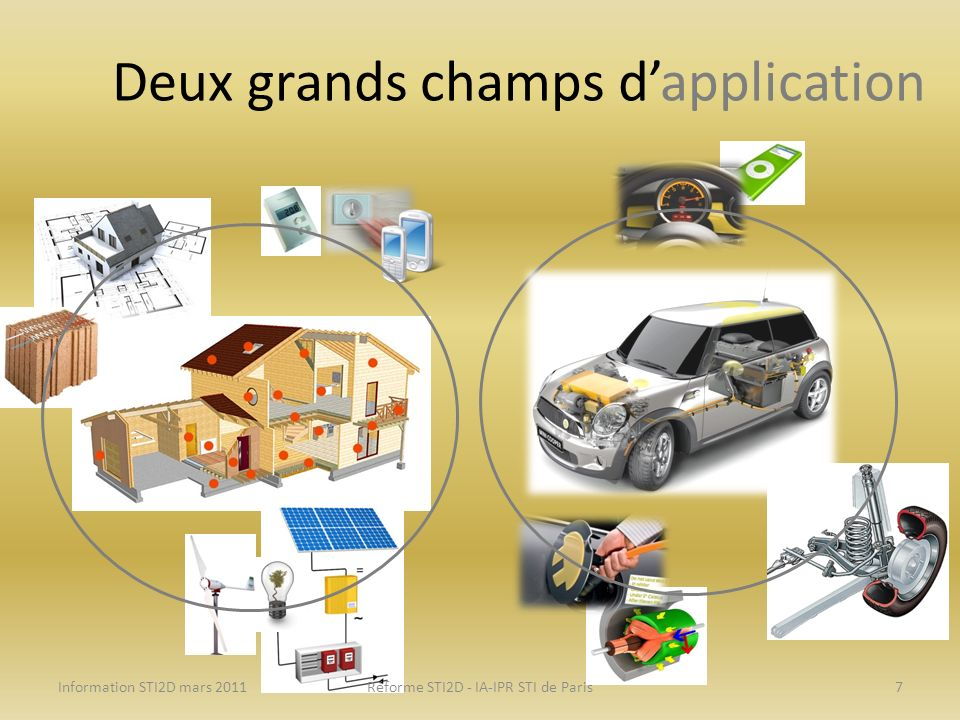Deux grands champs d'application