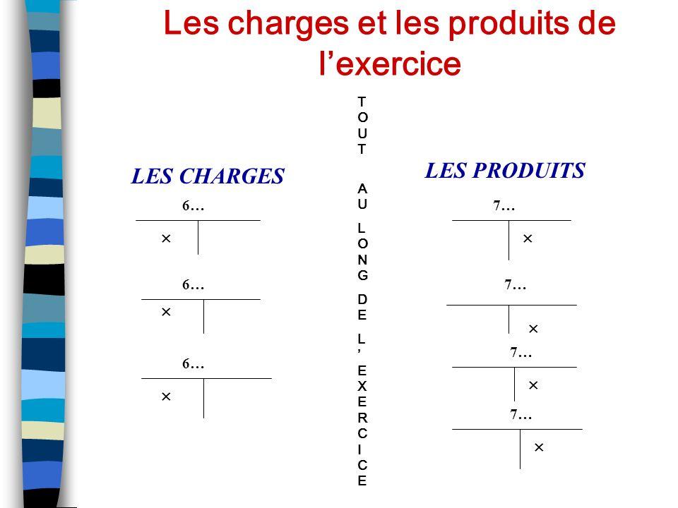 Les charges et les produits de l'exercice