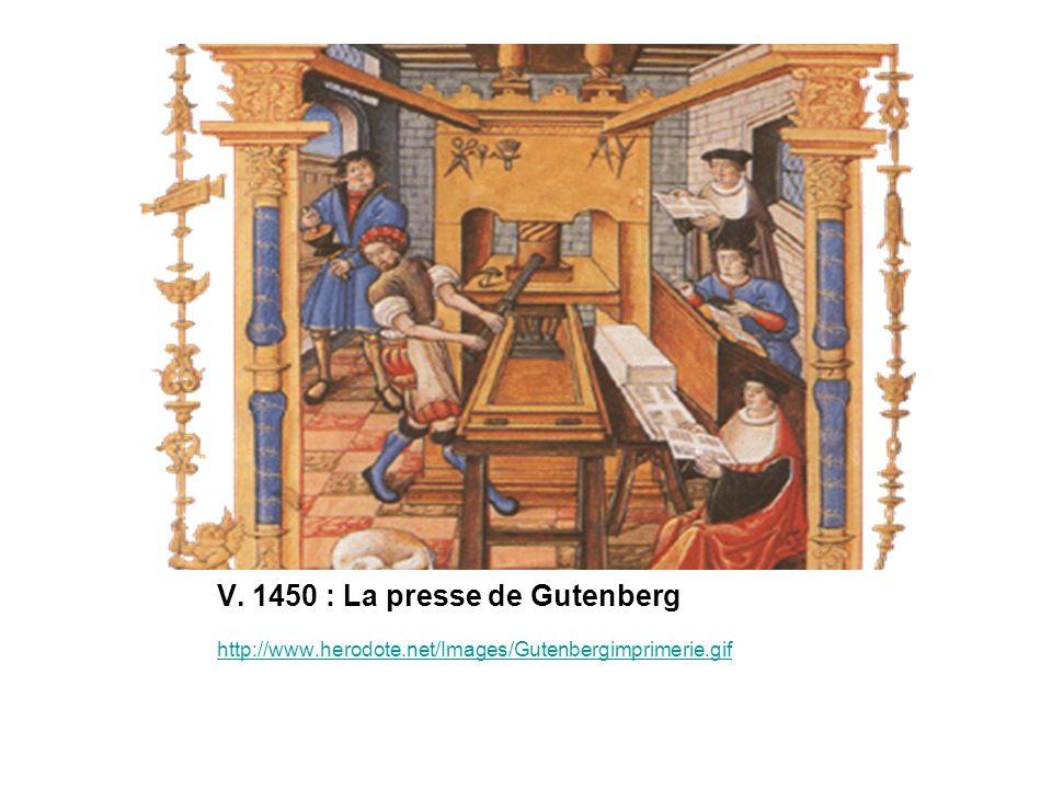 V. 1450 : La presse de Gutenberg