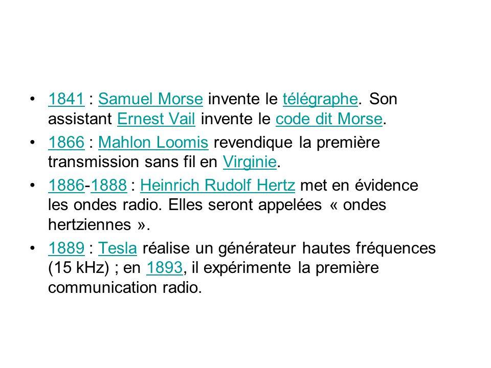 1841 : Samuel Morse invente le télégraphe