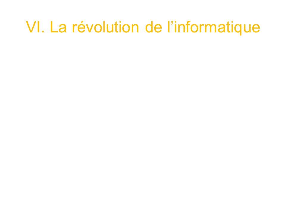 VI. La révolution de l'informatique
