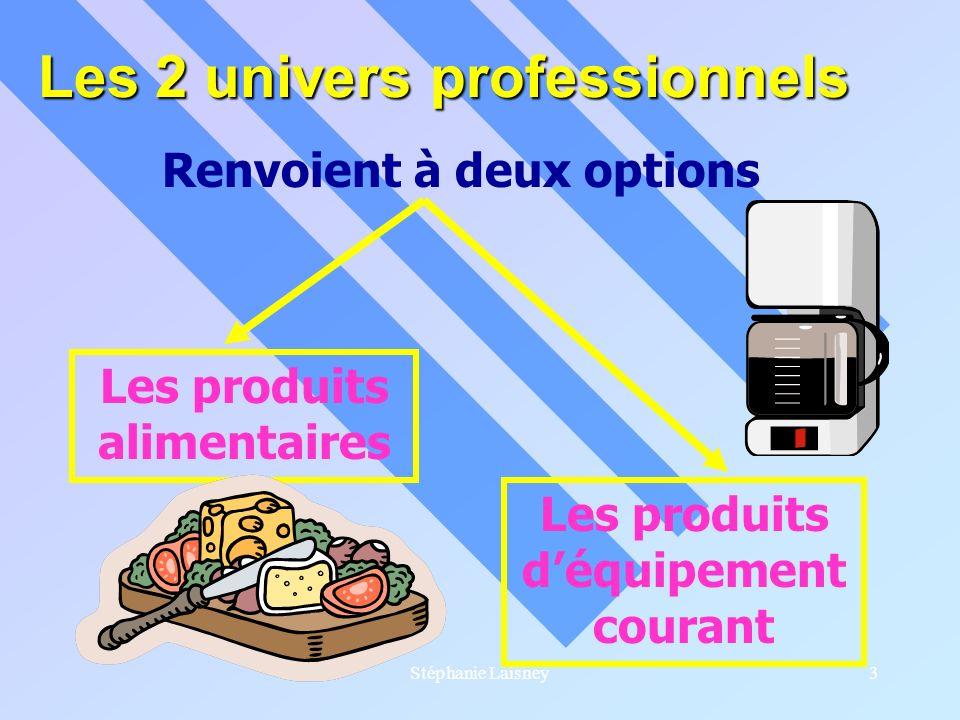 Les 2 univers professionnels