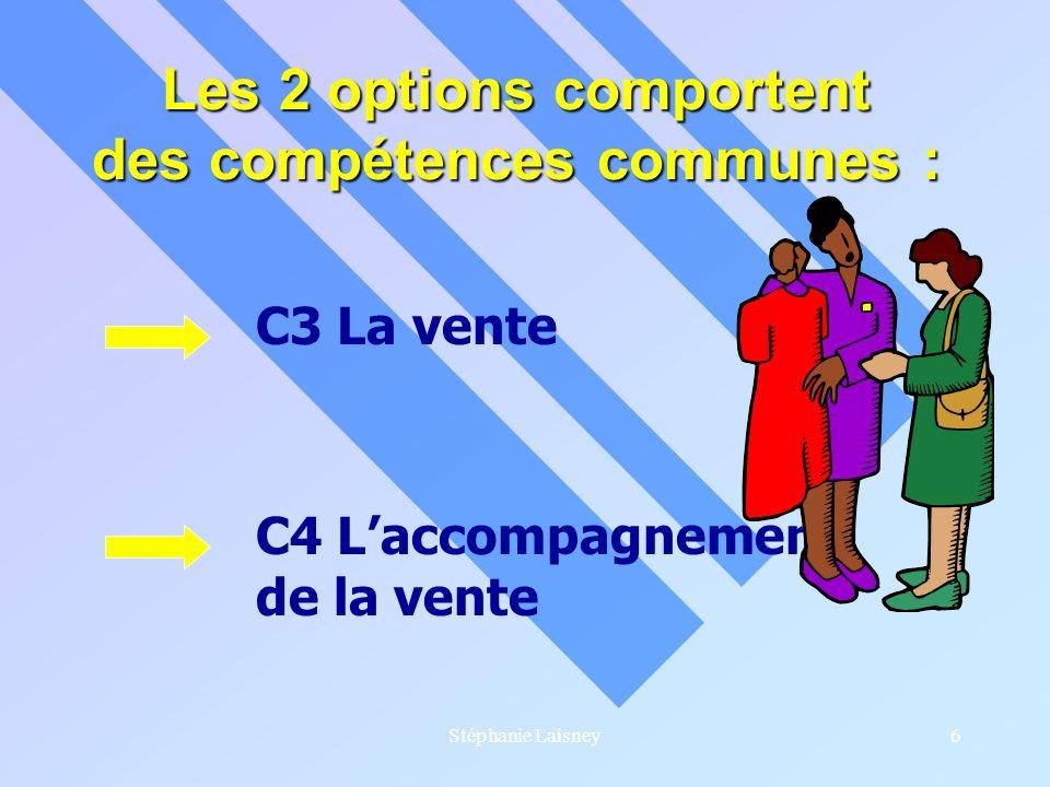Les 2 options comportent des compétences communes :