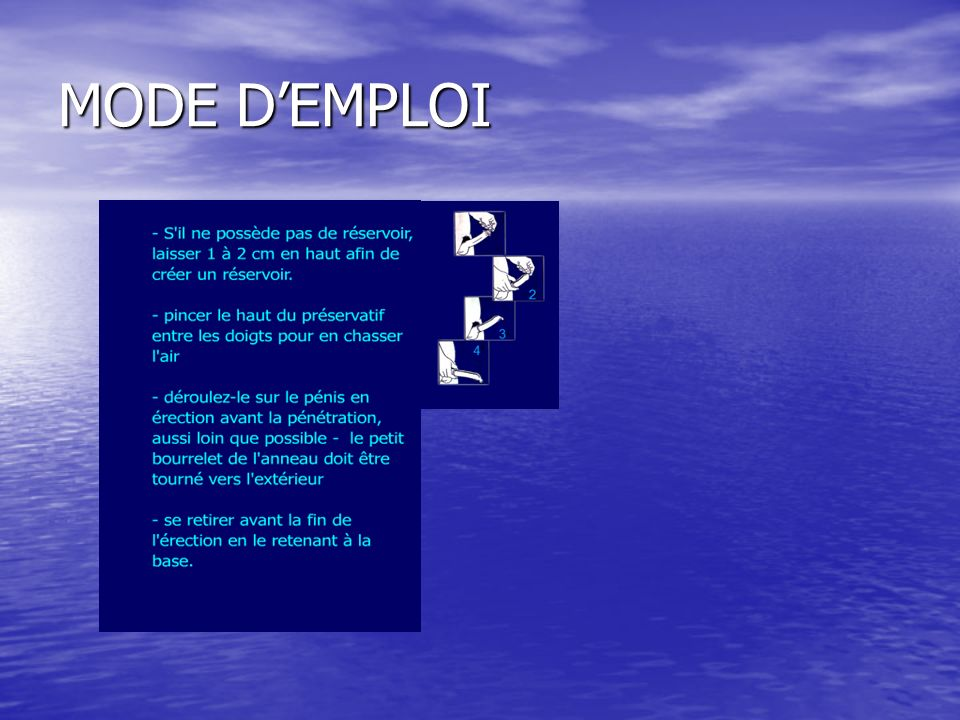 MODE D'EMPLOI