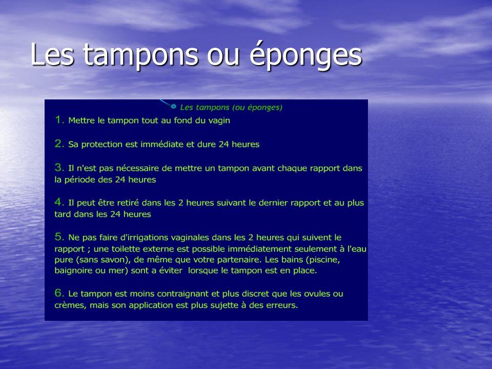 Les tampons ou éponges
