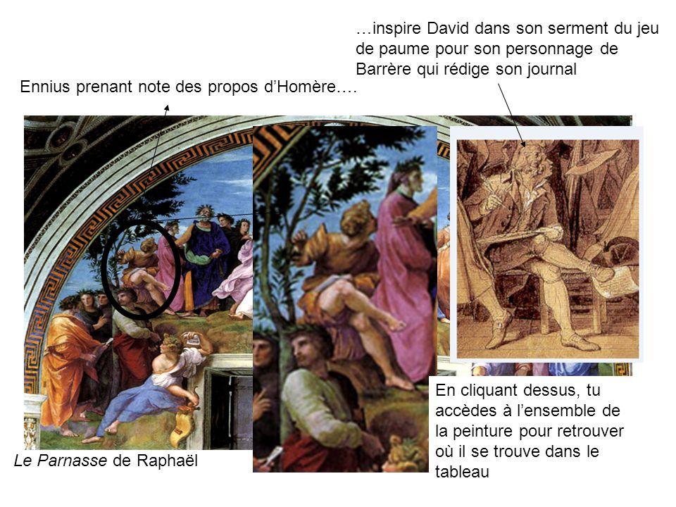 …inspire David dans son serment du jeu de paume pour son personnage de Barrère qui rédige son journal