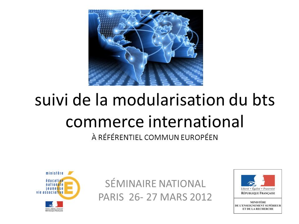 SÉMINAIRE NATIONAL PARIS 26- 27 MARS 2012
