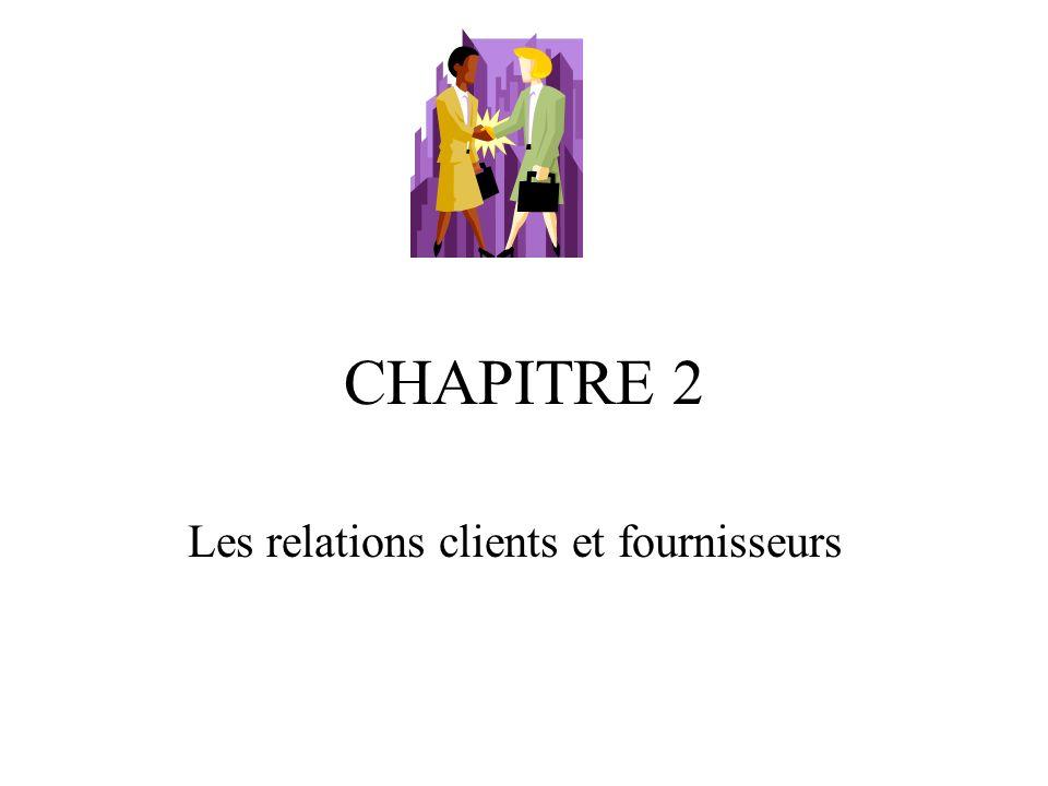 Les relations clients et fournisseurs