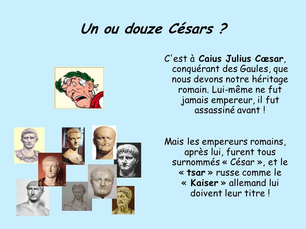 Un ou douze Césars