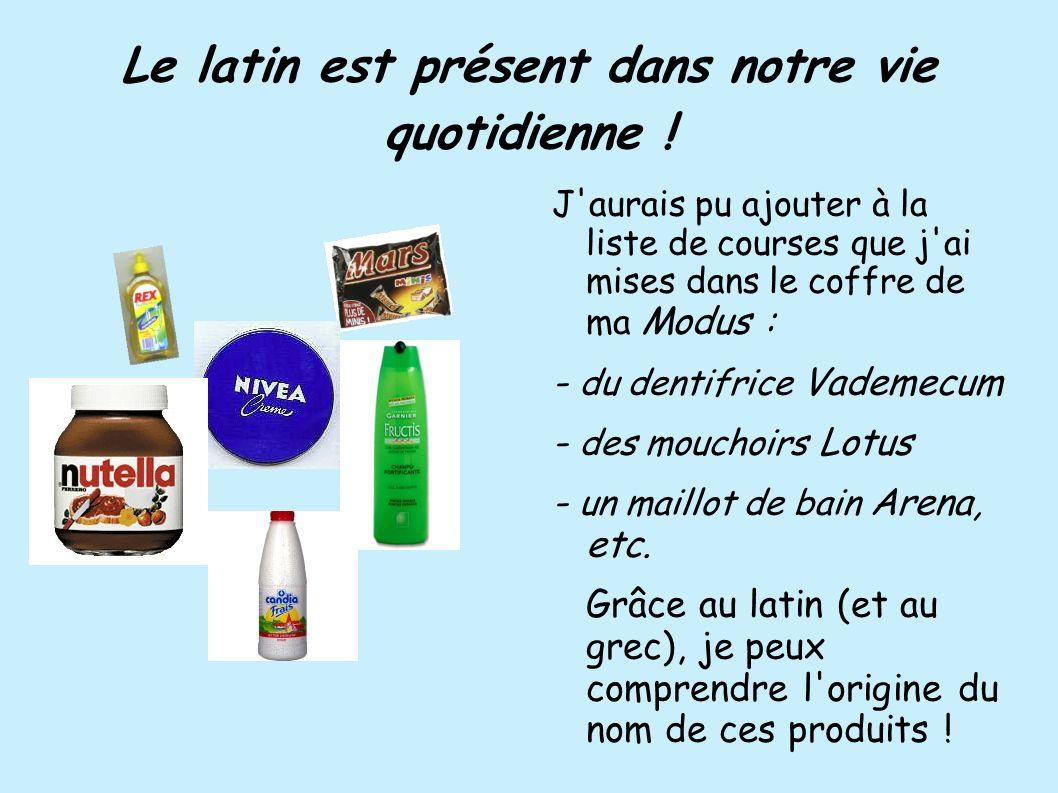 Le latin est présent dans notre vie quotidienne !