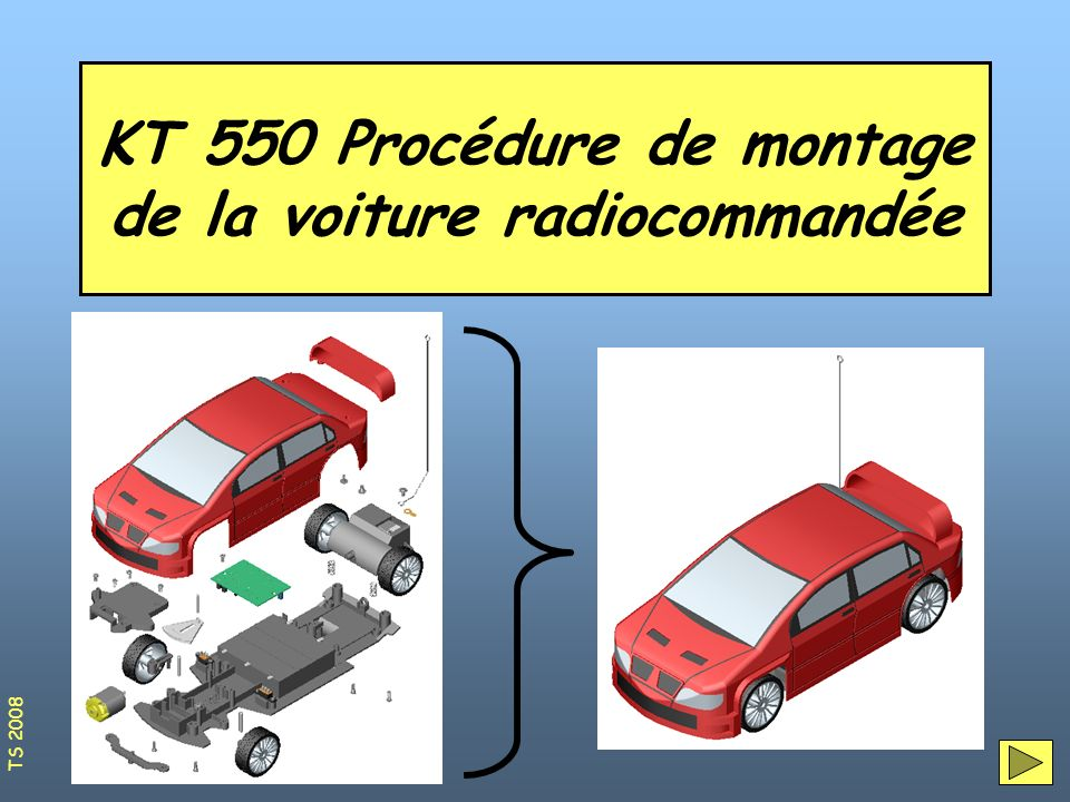 KT 550 Procédure de montage de la voiture radiocommandée