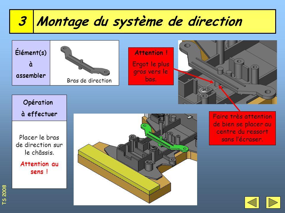 Montage du système de direction