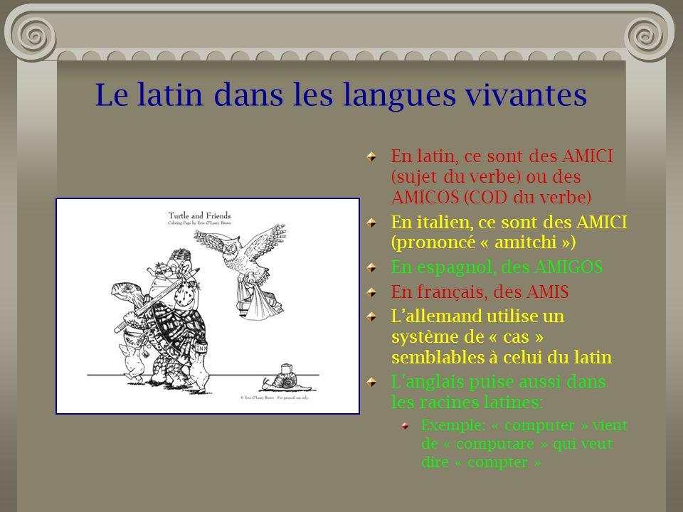 Le latin dans les langues vivantes