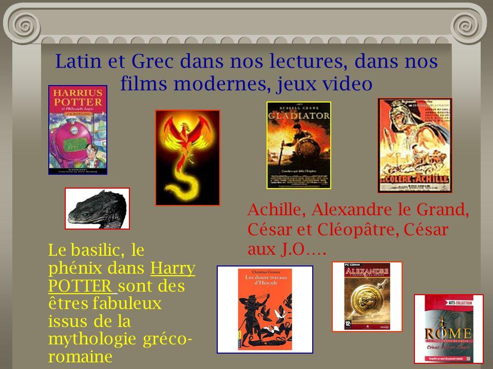 Latin et Grec dans nos lectures, dans nos films modernes, jeux video