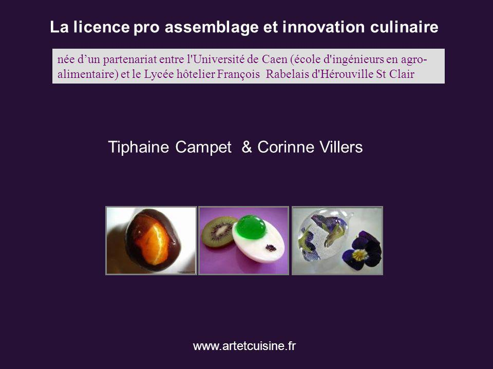 La licence pro assemblage et innovation culinaire