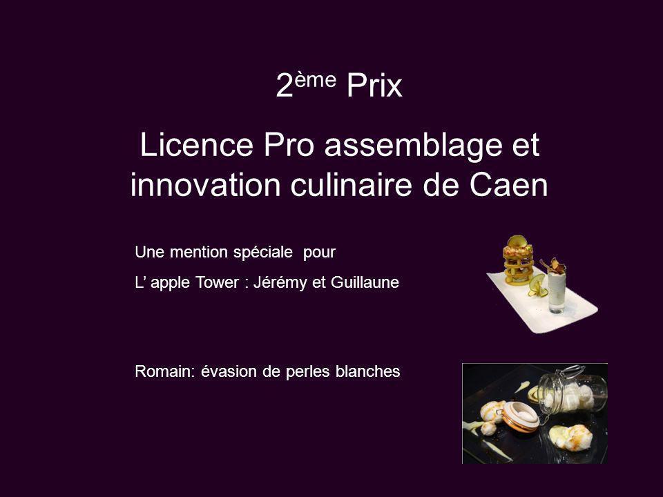 Licence Pro assemblage et innovation culinaire de Caen