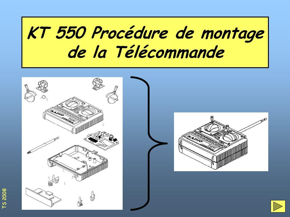 KT 550 Procédure de montage de la Télécommande