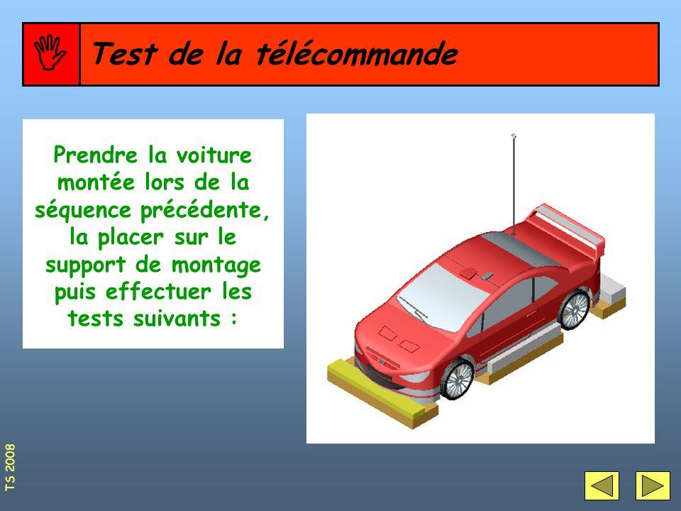  Test de la télécommande