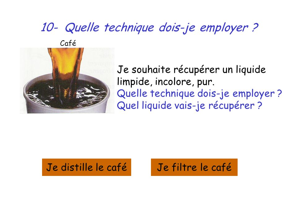 10- Quelle technique dois-je employer