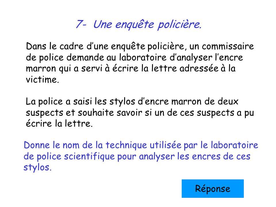 7- Une enquête policière.