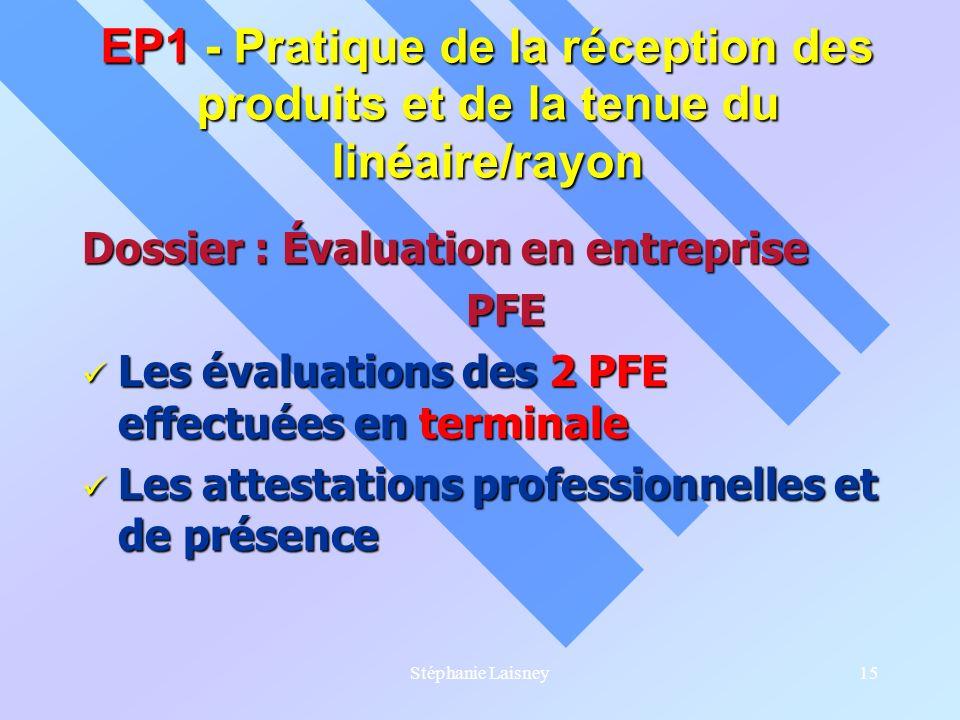 EP1 - Pratique de la réception des produits et de la tenue du linéaire/rayon