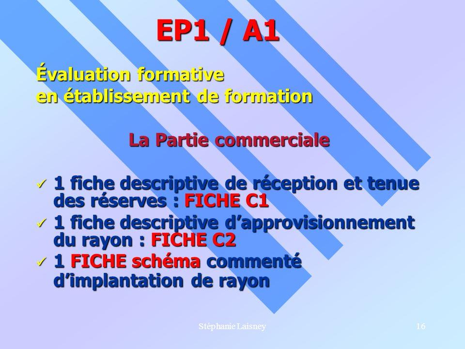 EP1 / A1 Évaluation formative en établissement de formation