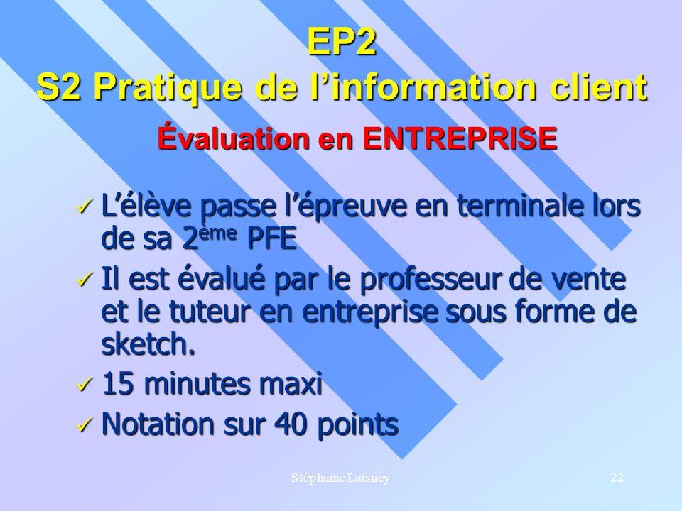 EP2 S2 Pratique de l'information client