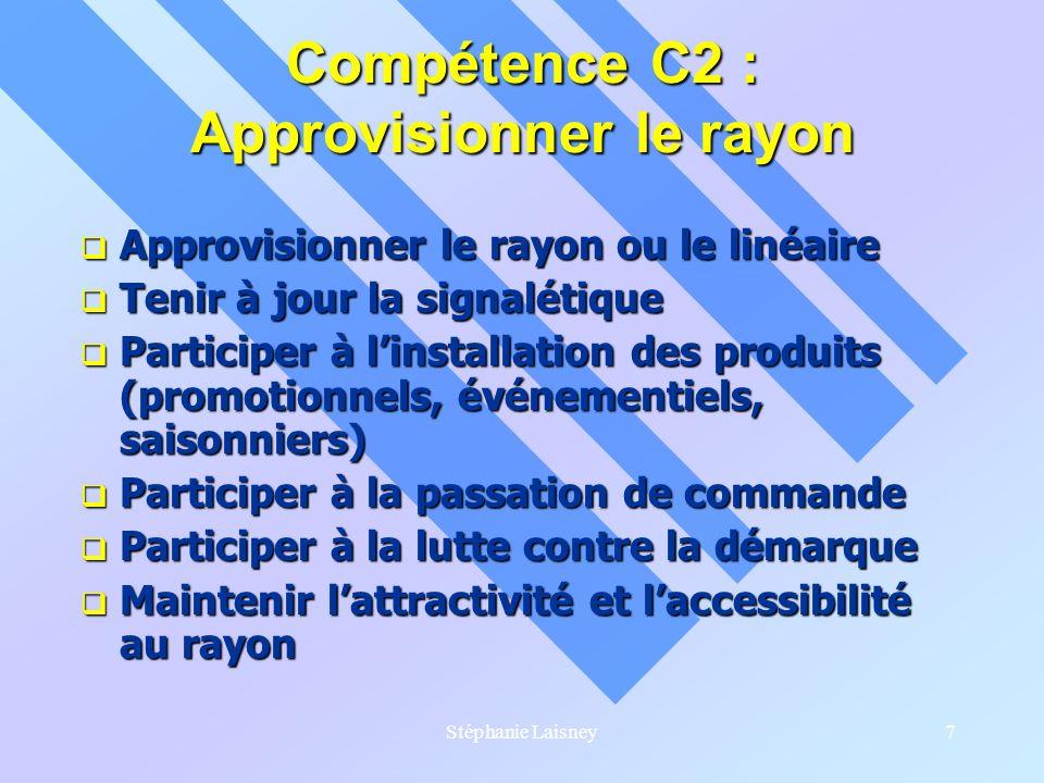 Compétence C2 : Approvisionner le rayon
