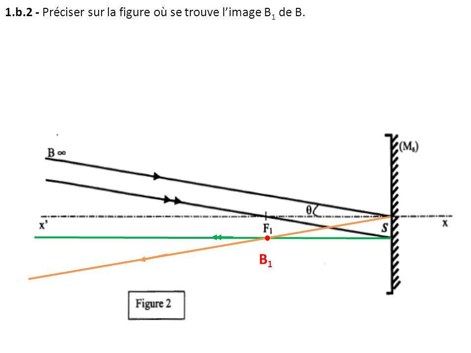 1.b.2 - Préciser sur la figure où se trouve l'image B1 de B.