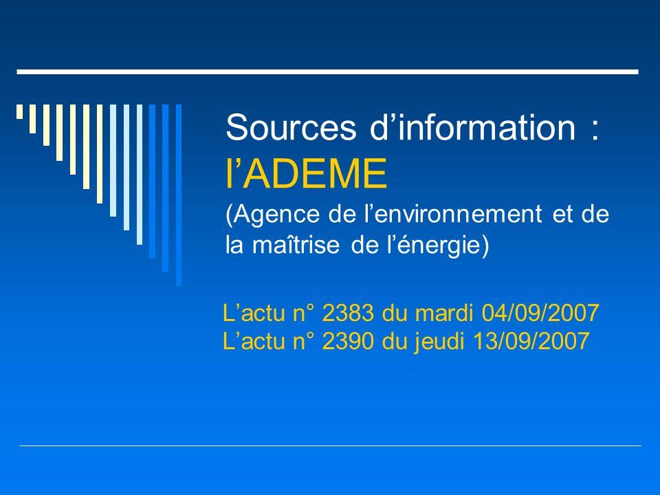 L'actu n° 2383 du mardi 04/09/2007 L'actu n° 2390 du jeudi 13/09/2007