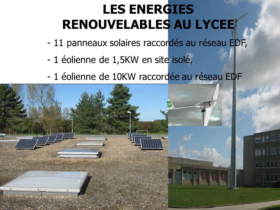 LES ENERGIES RENOUVELABLES AU LYCEE