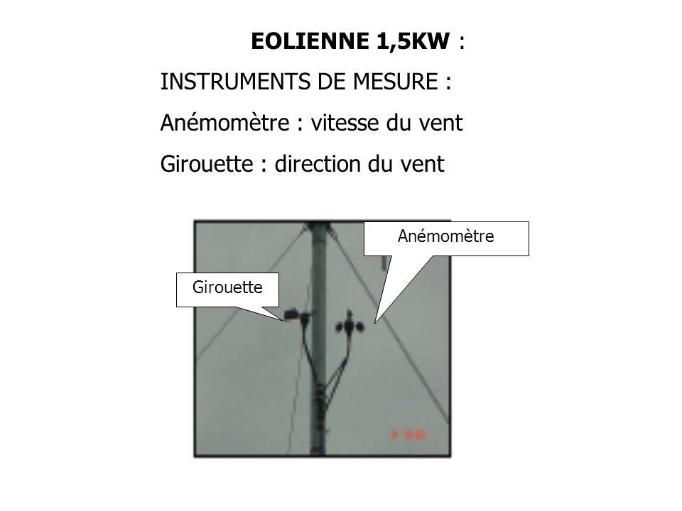 INSTRUMENTS DE MESURE : Anémomètre : vitesse du vent