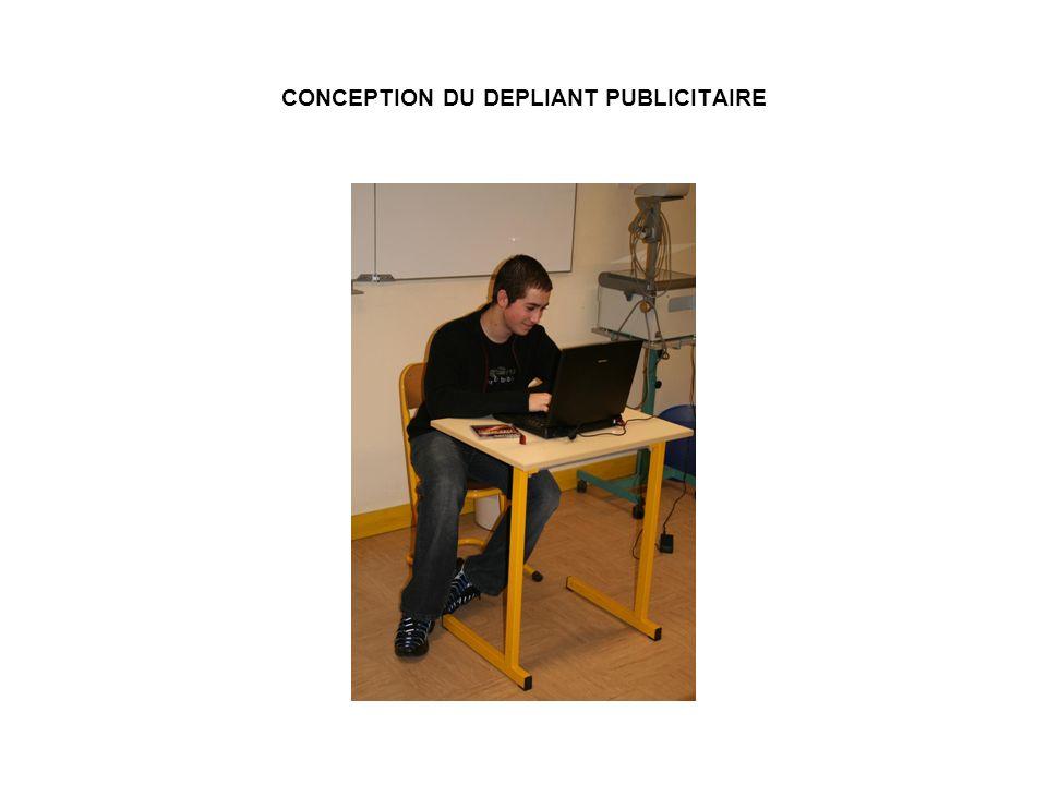 CONCEPTION DU DEPLIANT PUBLICITAIRE