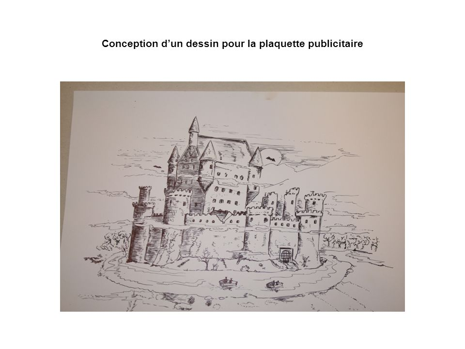 Conception d'un dessin pour la plaquette publicitaire