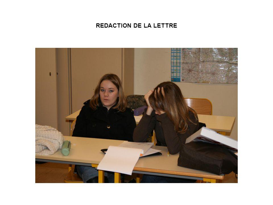 REDACTION DE LA LETTRE
