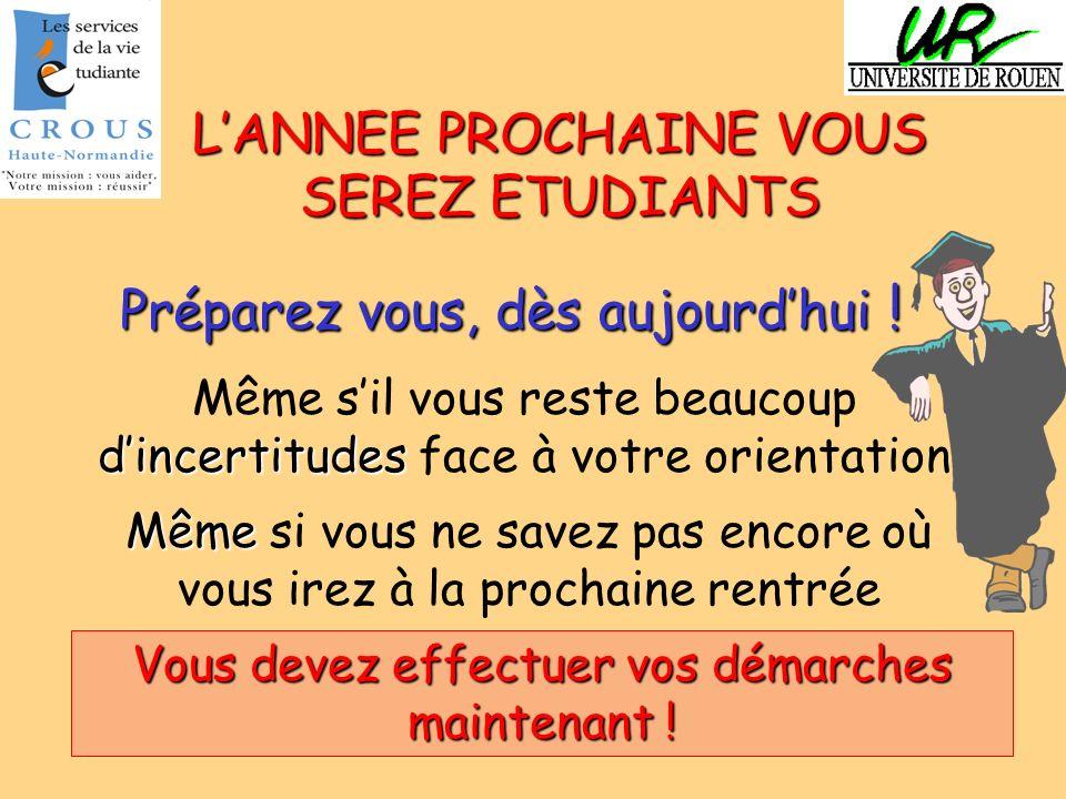 L'ANNEE PROCHAINE VOUS SEREZ ETUDIANTS