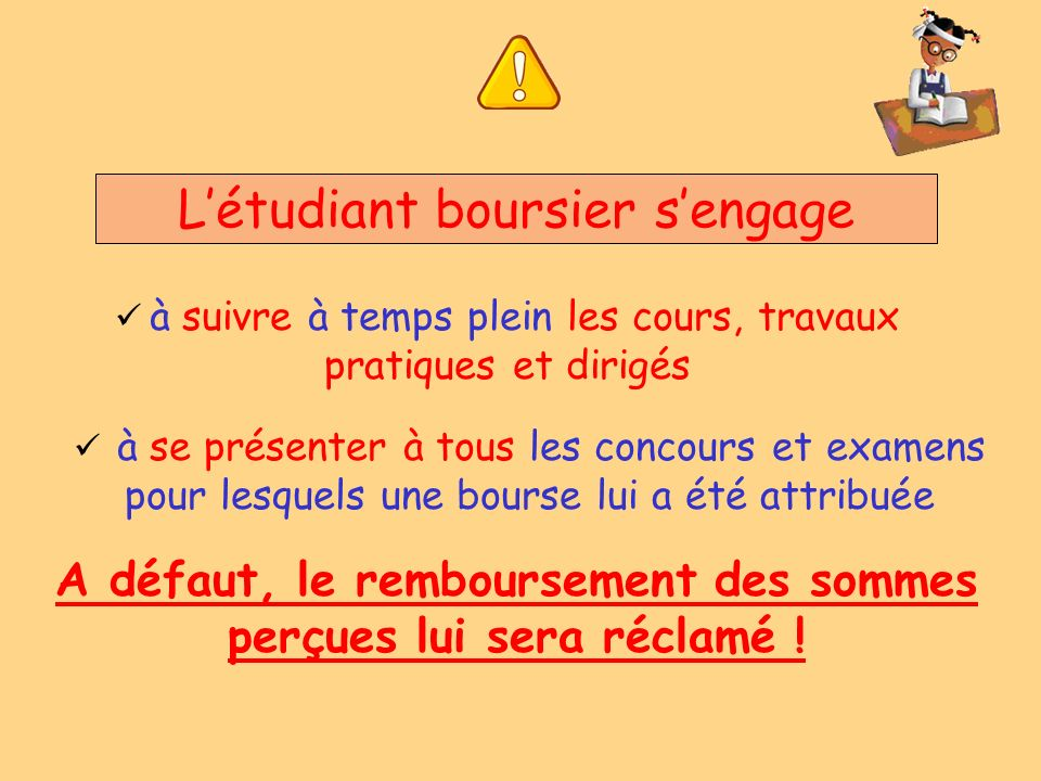 L'étudiant boursier s'engage