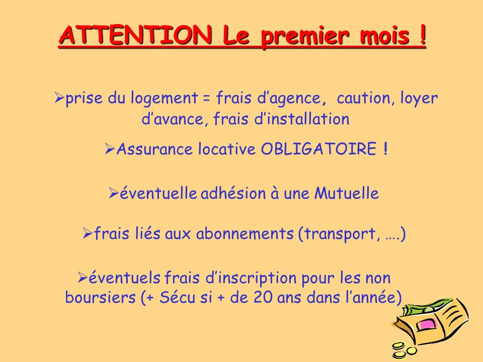 ATTENTION Le premier mois !
