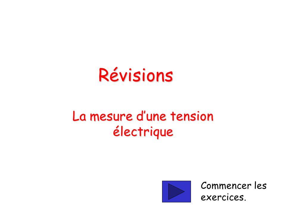 La mesure d'une tension électrique